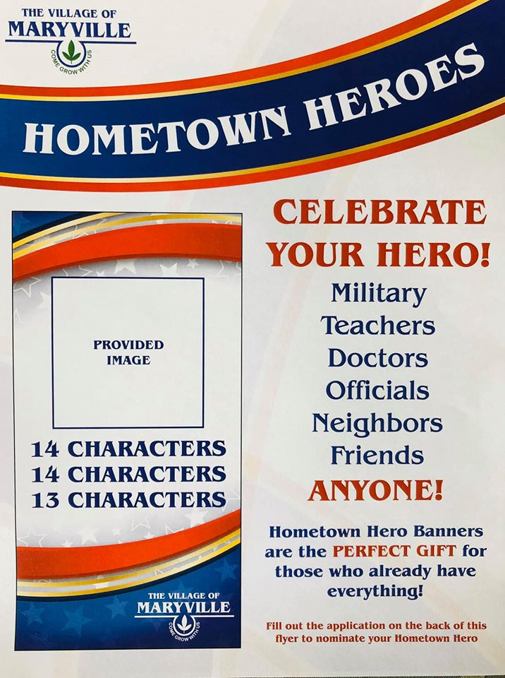 hometown hero banner information flyer